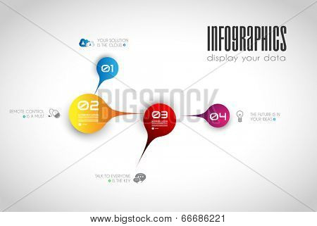 Infographic design template with paper tags. Idea to display information, ranking and statistics with orginal and modern style.illustration; design;