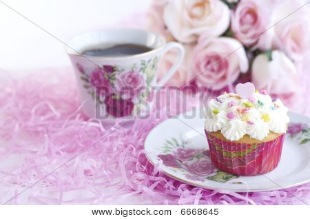Cupcake With Coffee