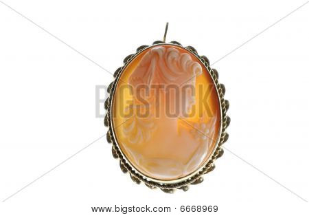Backlit Cameo Broach