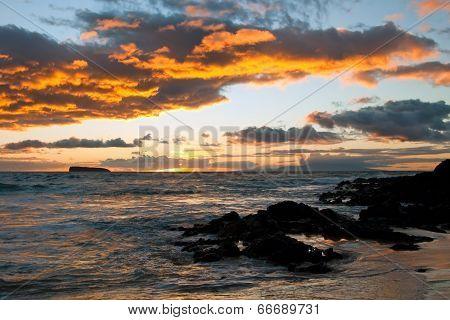 Beautiful Sunset On Maui Island Hawaii