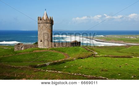 Ancient Old Irish Castle, West Coast Ireland