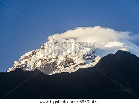 Snow Capped Antisana Volcano, Ecuador