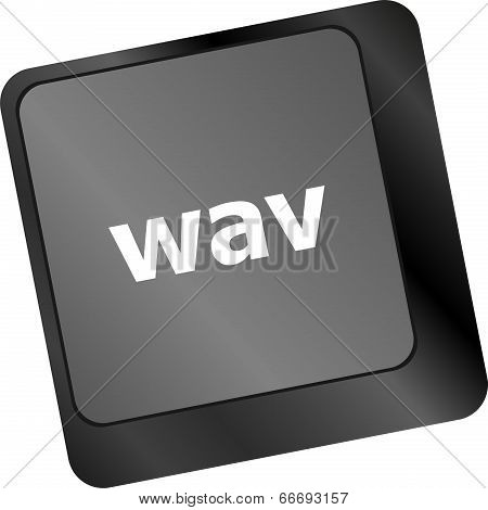 Wav Word On Keyboard Keys Button