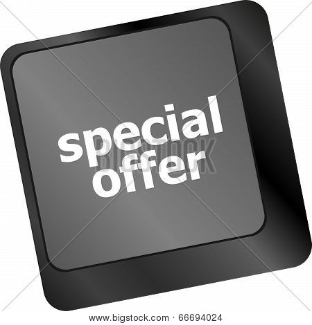 Special Offer Button On Computer Keyboard Keys