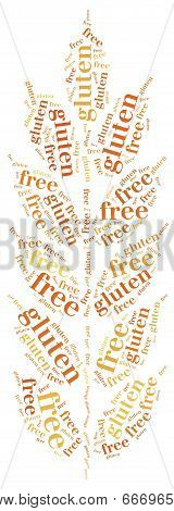 Word Cloud Illustration Gluten Free Food Related