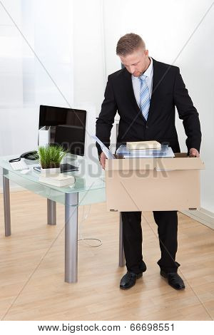 Dejected Businessman Made Redundant