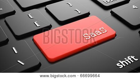 SAAS on Red Keyboard Button.
