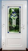Постер, плакат: Entrance Pvc Door With Tiffany Leaded Pane