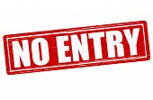 pic of no entry  - Stamp with text no entry inside vector illustration - JPG