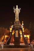 image of patron  - Monument of holy GreatMartyress Catherine in Krasnodar, Russia. Authors is Darya Uspenskaya and Vitaliy Shanov. Holy GreatMartyress Catherine is patron of Krasnodar city.