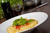 Spaghetti plate poster