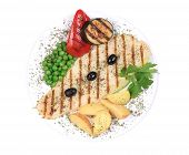 picture of pangasius  - Pangasius fillet grilled with vegetables - JPG