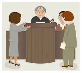 picture of courtroom  - A courtroom scene with judge - JPG