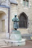 stock photo of duke  - Statue of sculptor Claus Sluter in the Palace of Dukes and Estates of Burgundy - JPG