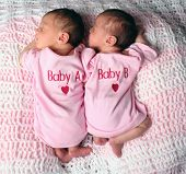 foto of twin baby girls  - Twin babies sleeping - JPG