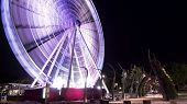 stock photo of ferris-wheel  - Brisbane ferris wheel is located on Southbank Parklands in Brisbane - JPG