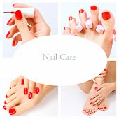 stock photo of pedicure  - pedicure process  - JPG