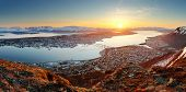 foto of tromso  - Norway city panorama  - JPG