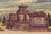 stock photo of arjuna  - Arjuna complex in plateau Dieng - JPG