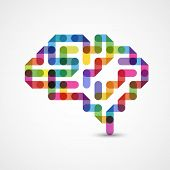 stock photo of neurology  - Creative concept of the human brain - JPG