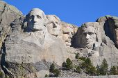 foto of mount rushmore national memorial  - Mt - JPG