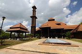 pic of malay  - TERENGGANU, MALAYSIA - APRIL, 2014: Located at Jerteh, Terengganu, Malaysia. Completed in 2012. Designed and crafted by local wood craftsman, the mosque is built according to traditional Malay architectural concept.