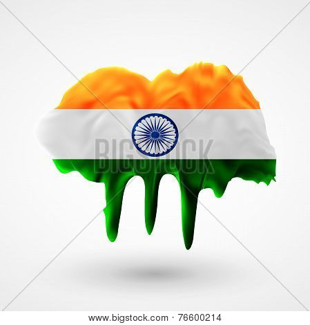 Flag of India painted colors