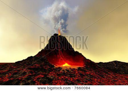 Volcán activo