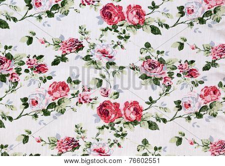 Retro Floral Textile