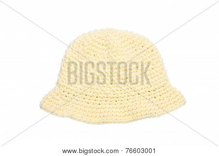yellow woolen knit hat