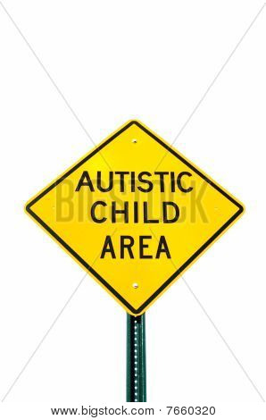 Autistic Child Area Sign