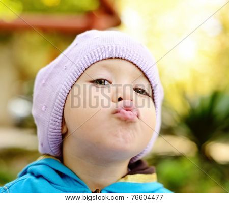 Toddler Making Face