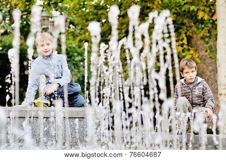 Boys Near  Waterworks