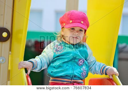 Girl On Slide