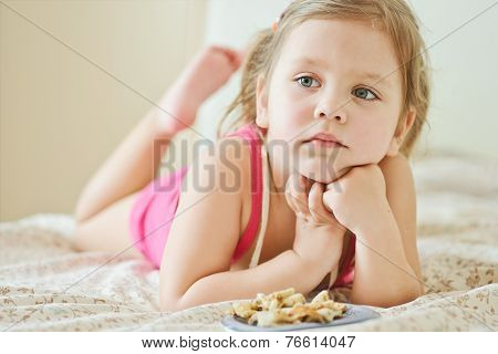 Toddler Girl At Home