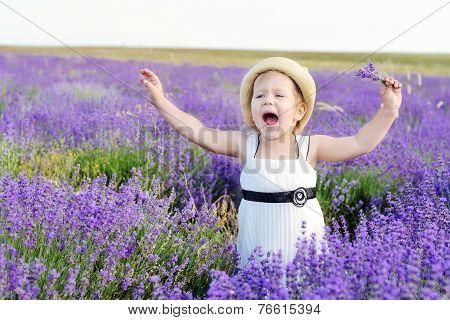 Happy Toddler In Field
