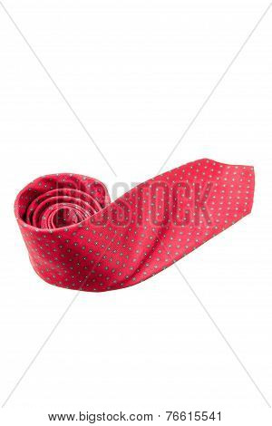 Red With Green Dots Business Neck Tie