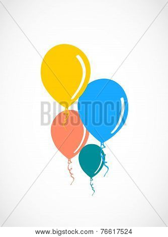 Colored balloons illustration.