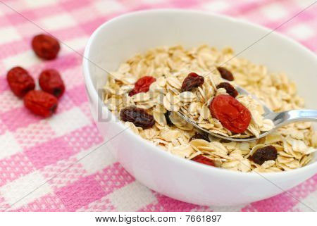 Spoonful Of Healthy And N Utritious Oatmeal