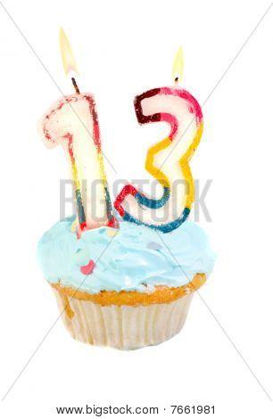 Thirteenth Birthday Cupcake