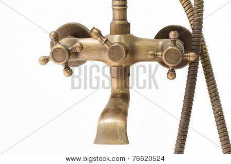 Vintage Brass Douche