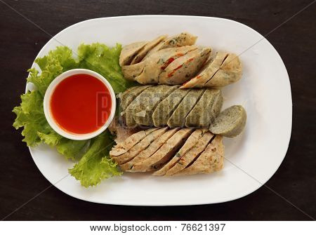 Vietnamese Sausage Pork With Sauce