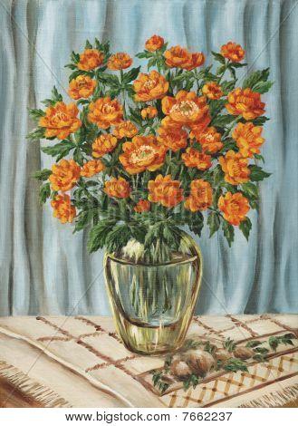 Bouquet von trollius