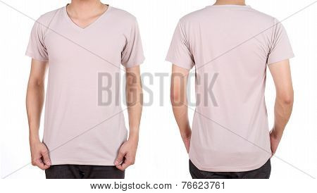Blank T-shirt Set On Man