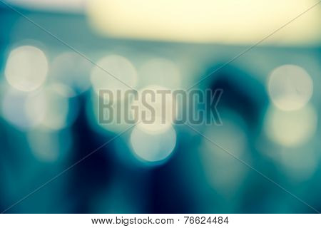 Blur Aqua Blue Abstract Of City Life Background