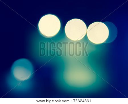 Blur Bokeh Of Glowing Light Background
