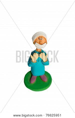 Statuette of a woman surgeon before surgery