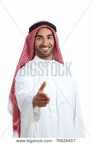 Arab Saudi Emirates Man Ready To Handshake