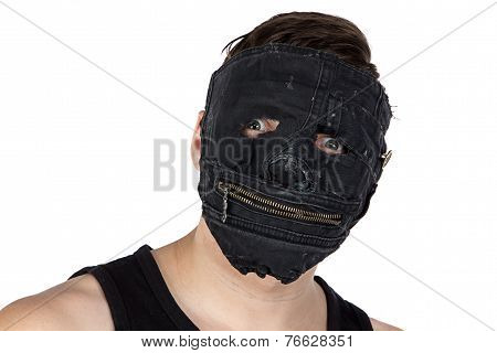 Image of the young man in mask