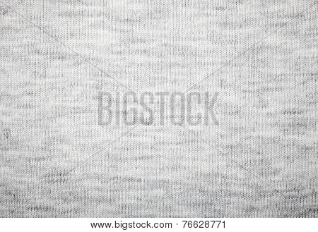 Grey knitted fabric textured background